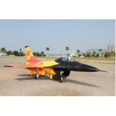 8 Channel F-16 RC Jet with 70mm EDF Thrust vectoring nozzles