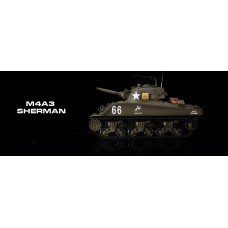 1/16 U.S.M4A3 SHERMAN 2.4G RC TANK with smoke and realistic engine sound
