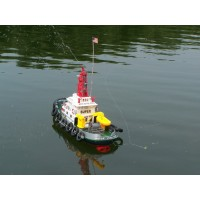 2.4G U.S. remote control seaport work boat With water spray feature