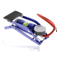 Multi-function foot-pressure air pump with barometer
