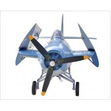8 Channel  F4F RC plane with Hand-actuated folding wing and electric retract landing gear
