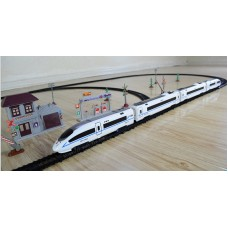 simulation electric train model with voice and orbit transitions