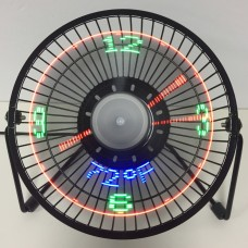 Display Real time and temperature LED Fan