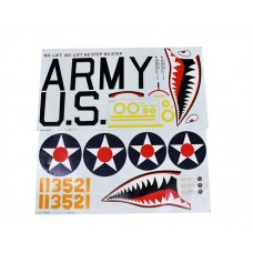 decorate parts for P-40 decal