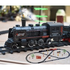 1800mm rail king intelligent classical electric toy train with smoking Toys For Children